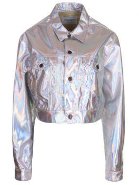 Куртка укороченная металлик