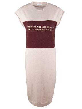 Кашемировое платье с принтом