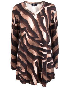 Удлиненный пуловер из шерсти