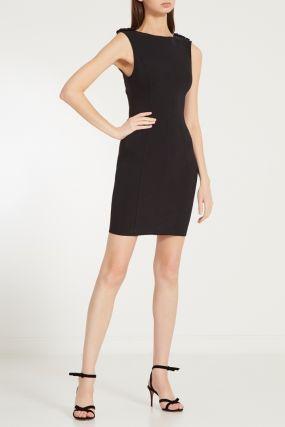 Черное облегающее мини-платье