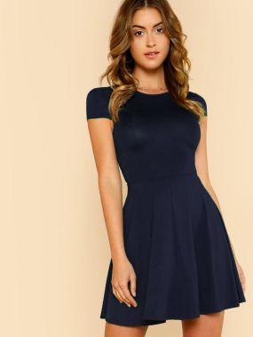 Облегающее платье-клёш соткрытойспиной