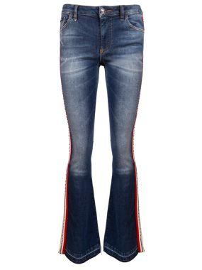 Расклешенные джинсы с лампасами