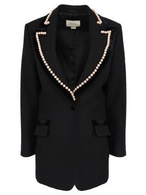 Шерстяной пиджак с декором