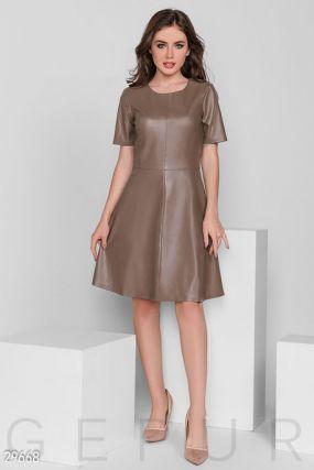 Платье-мини из кожи