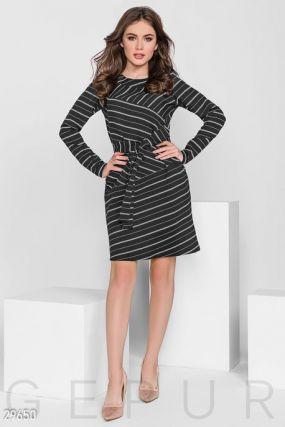 Платье-мини в полоску
