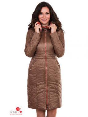 Пальто J-Splash, цвет светло-коричневый, золотой
