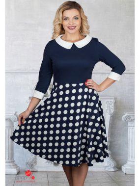Платье Bellovera, цвет синий, белый