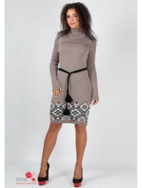Платье GUASH, цвет коричневый, черный