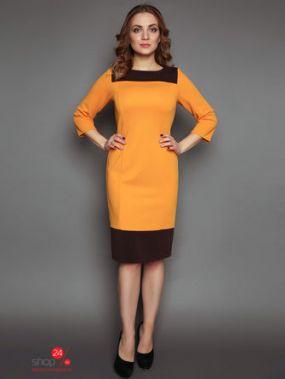 Платье MariKo, цвет желтый, коричневый