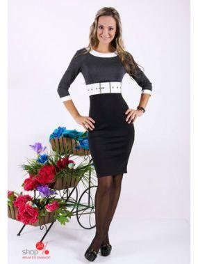 Платье Zean, цвет серый, черный