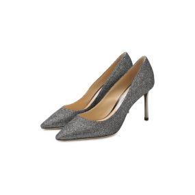 Туфли Romy 85 из металлизированного текстиля  Jimmy Choo
