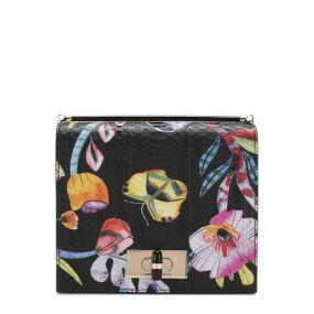 Кожаная сумка с принтом Giorgio Armani
