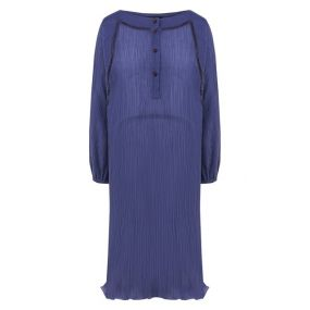 Платье из смеси хлопка и шелка Giorgio Armani