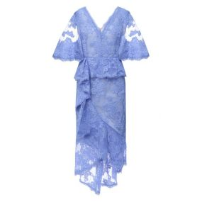 Платье-миди Marchesa