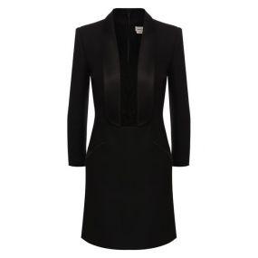 Платье из смеси шерсти и шелка Alexander McQueen