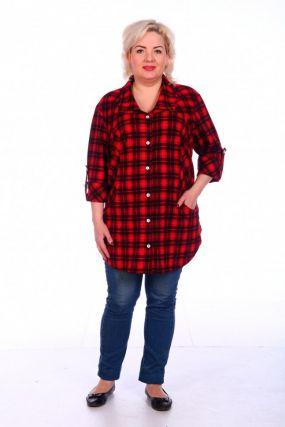Рубашка трикотажная Кристи (клетка)