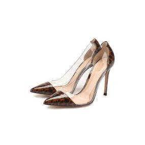 Кожаные туфли Plexi Gianvito Rossi