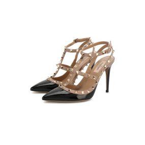Лаковые туфли Rockstud с ремешками Valentino