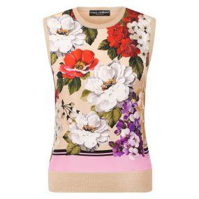 Шелковый топ Dolce & Gabbana