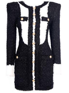 Твидовое платье-мини