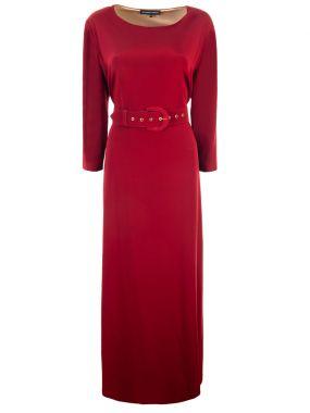 Платье-макси с поясом