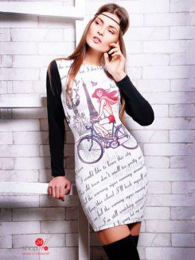 Платье Fashion Up, цвет черный, молочный, розовый