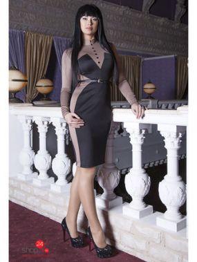 Платье Vision Fashion Store, цвет бежевый