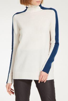 Двухцветный свитер из кашемира