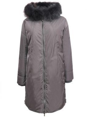 Удлиненная куртка с мехом