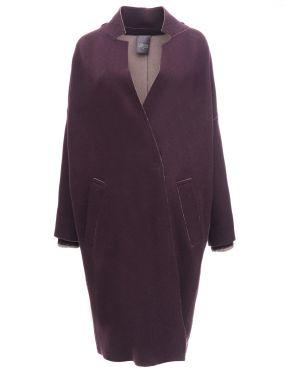 Шерстяное пальто-кокон