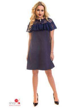 Платье The First Land of Fashion, цвет синий