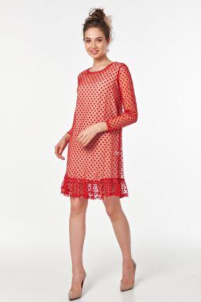 Платье сетка с подкладом из хлопка