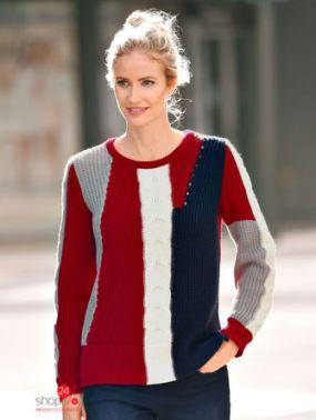 Пуловер Laura Kent Klingel, цвет красный, синий, белый