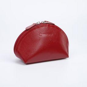 Косметичка простая, отдел на молнии, цвет красный