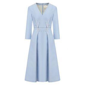 Платье из смеси шелка и шерсти Atelier Caito for Herve Pierre