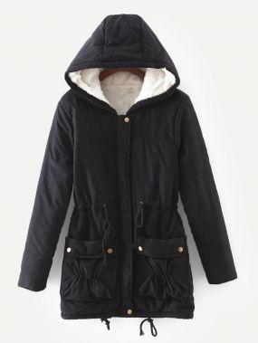 Искусственный мех подкладкой пальто
