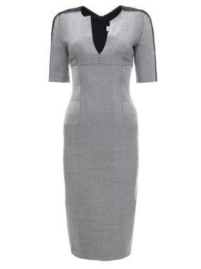 Платье-футляр из шерсти