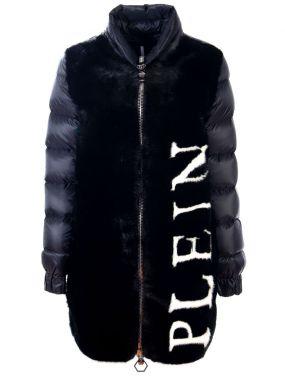 Пуховая куртка с мехом норки