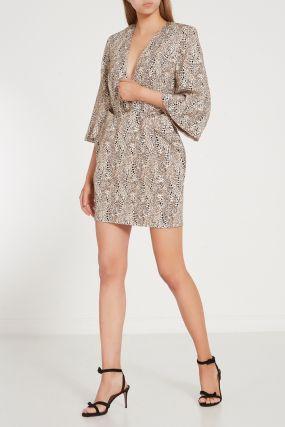 Платье с контрастным принтом