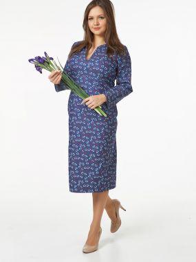 Платье из джинсы с модной прямой юбкой