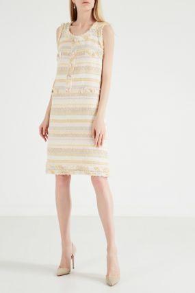 Короткое платье из твида