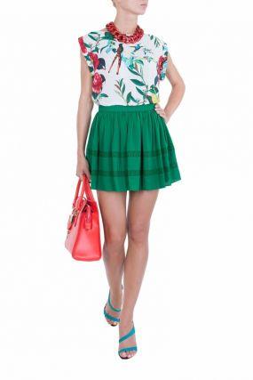 Пышная зеленая юбка