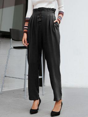 Simplee плиссированные брюки с присборенной талией