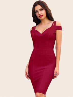 Adyce бандажное платье с открытыми плечами и вырезом-сердечком