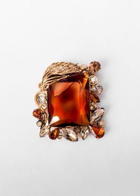 Брошь позолоченная с баварским стеклом Claudio Canzian 002.11.052K