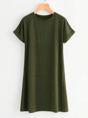 Платье-футболка размера плюс