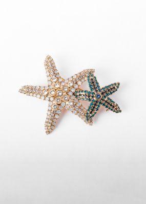 Брошь Claudio Canzian звезды с кристаллами 002.11.058