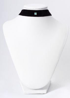 Бархатный чокер с голубым кристаллом CH1602-03-04