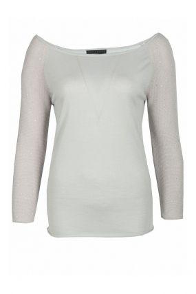 Светло-серый пуловер из кашемирового трикотажа