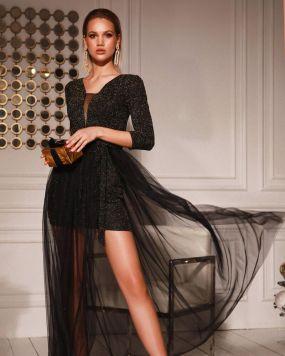 Платье с воздушной юбкой из фатина